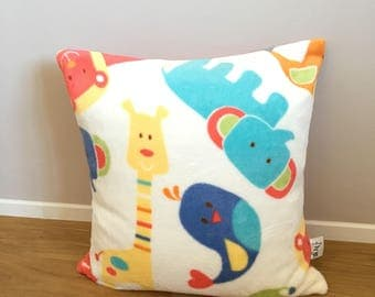 Fleece Square Pillow case with pets-children's room