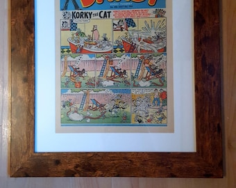 Framed comic book -  1954 Dandy Comic ~ ideal nostalgic present