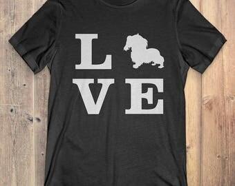 Cavalier King Charles Spaniel Dog T-Shirt Gift: I Love Cavalier King Charles Spaniel