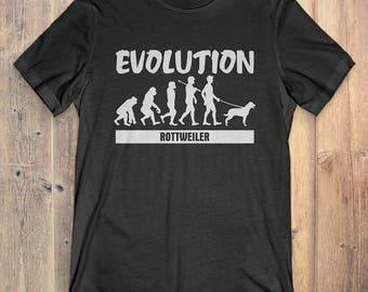 Rottweiler Custom Dog T-Shirt Gift: Rottweiler Evolution