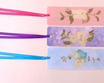 Real Pressed Flower Bookmark - 3 Pack