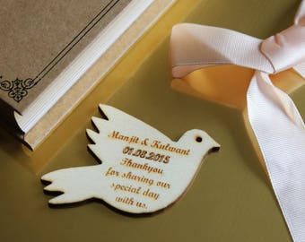 Laser cut wooden dove tags (pack of 10)