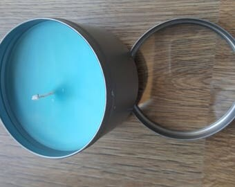 Large tin container candle
