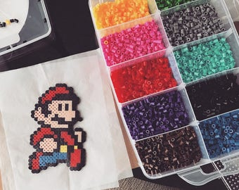 Perler Pixel Art - SMB3 Mario  (Requests Open!)