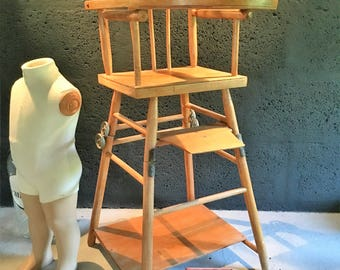 Old doll high chair