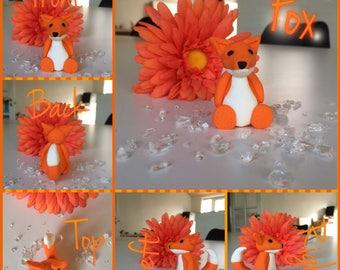 Polymer clay fox plushie