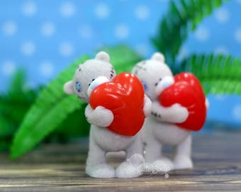 Teddy bear soap Handmade Cute soap Bear figure 3d soap Bathroom decor beautiful сute souvenir Deluxe soap Valentin day