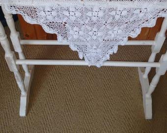 Pretty hand crocheted vintage shawl