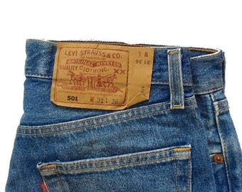 Vtg. Levi's 501 Made in USA W31 L36