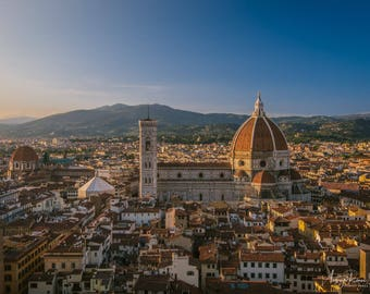 Fine Art Photography Print - The Duomo at Sunset in Florence, Italy