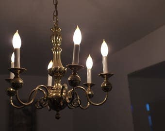 Brass Chandelier | Vintage