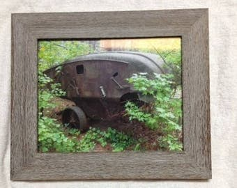 1940's john deere 12a combine framed authentic photo