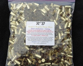 45 ACP - Small Primer Only  Range Brass - Sorted and Tumbled (Polished)