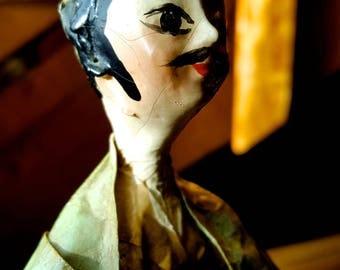 Vintage Wire Art/Paper Mache Sculpture--Mexican Folk Art