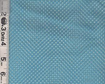 Aqua Dotted Swiss Fabric