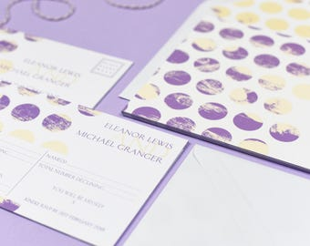 Polka Dot Chic Purple RSVP
