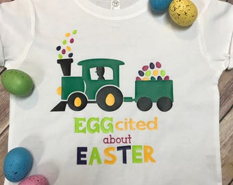 EGGcited About Easter Toddler Tee