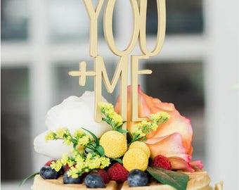 YOU + ME cake toper