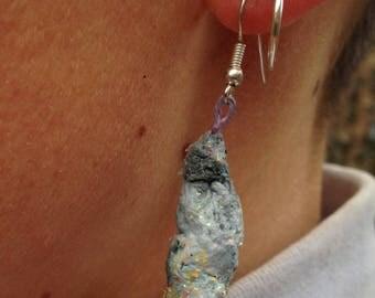 Paper Crystal Drop Earrings