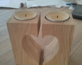 Wooden tea-light holders