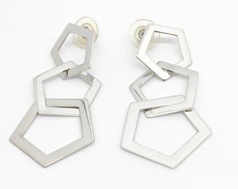 Sterling Silver Drop Style Earrings