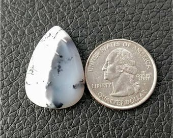28 x 19.40 mm Pear Shape Dendritic Opal Cobochon/ AAA Dendritic Agate Cabochon /Merlinite Cabochon/ wire wrap stone/Super Shiny/ Cabochon