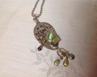 Cute little repurposed spoon necklace