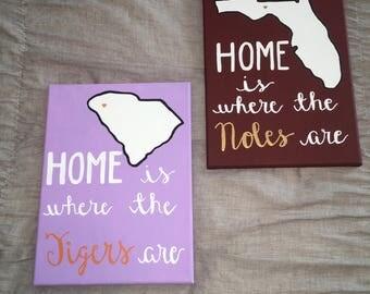 Custom College/State Canvas