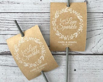 Sparkler tags on shimmer card stock