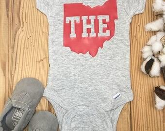 THE Ohio State Onesie, Ohio State, Ohio State Baby, Football Baby, Football Onesie, Baby Boy Onesie, Boy Onesie, Onesie