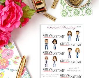 Grey's Anatomy Deco Planner Stickers SP-016