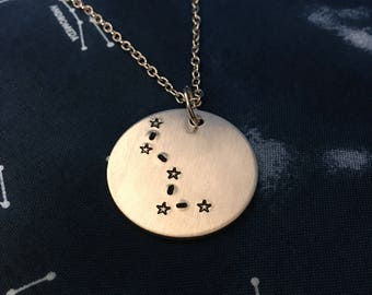 Cassiopeia, The Queen Necklace - Constellation Necklace - Constellations Jewelry - Queen Necklace - Queen Jewelry - Cassiopeia Necklace
