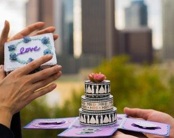 ring box, explosion box anniversary, proposal ring box, wedding ring box, explosion box, exploding box