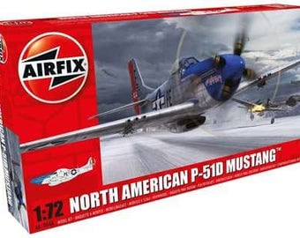 Airfix-North-American-P-51D-Mustang-1-72-Scale-Plastic-Model-Plane