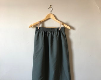 90s Tan Jay Petite Army Green Skirt