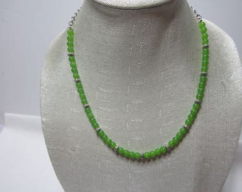 Women Green Garnet Necklace