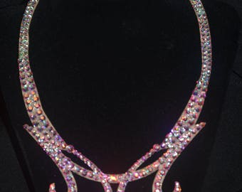 Stunning laser cut rhinestone pendant