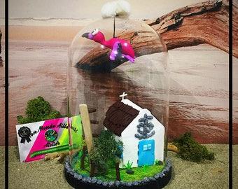 Bell - Camargue Hut And Flamingo