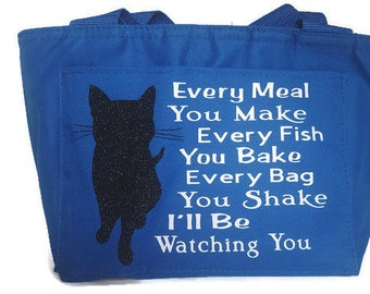 Cat Lunch Bag / Lunch Bag for Women / Cat Lady Bag / Gifts for Her / Women's Lunch Bag / Insulated Lunch Tote / Insulated Bag / Lunch Tote