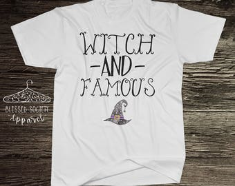 witch and famous halloween womens tshirt halloween puns witch hat funny halloween shirt - Halloween Pubs