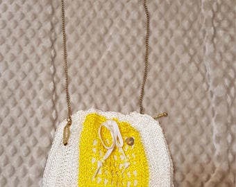 crochet bag with lining