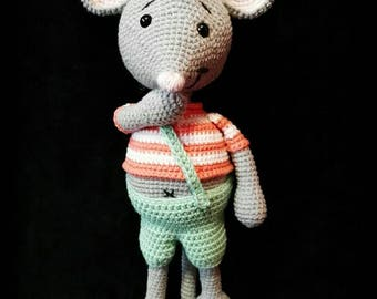 crochet mouse toy baby gift handmade cuddly christmas gift crochet toy stuffed toy