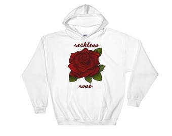 roses hoodie, sweatshirt, rose hoodie, rose on shirt, rose sweatshirt, rose t shirt,rose tops for women, Hooded Sweatshirt, roses sweatshirt