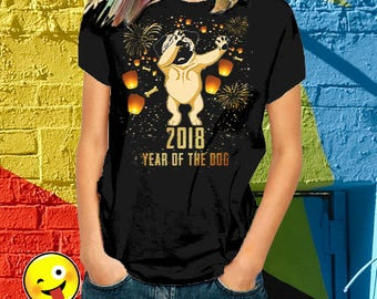 chinese new years, chinese new year shirt 2018 - year of the dog, year of the dog 2018, chinese new year gifts, Short-Sleeve Unisex T-Shirt