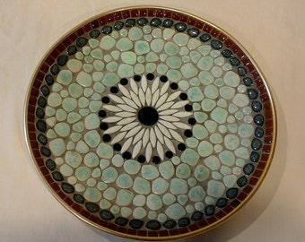 Vintage/Mid Century Round Mosaic Platter