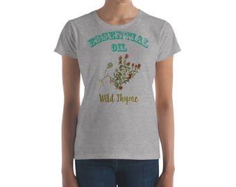 Essential Oil Wild Thyme Women's short sleeve t-shirt