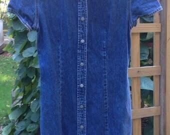 90's vintage denim dress