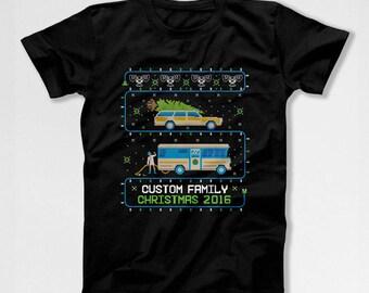Christmas Vacation T Shirt Ugly Christmas Shirt Personalized TShirt Xmas Present Custom Gift Ideas Matching Family T-Shirts X-Mas TEP-561