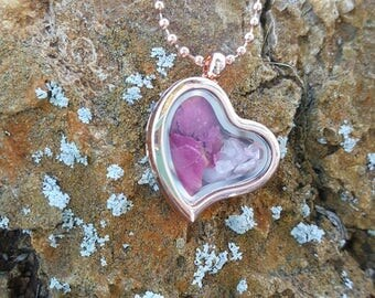 Love Spell heart locket necklace, witchcraft, wicca, hoodoo