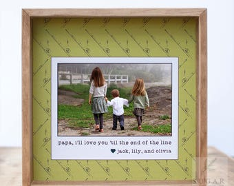 Fishing Gift For Grandpa Dad Uncle Fishing Picture Frame Gift For Grandfather From Grandchildren Personalized Frame Grandkids Names Gift